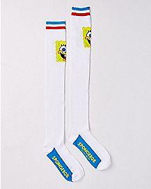 Athletic Stripe Spongebob Over the Knee Socks