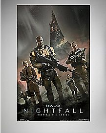 Nightfall Key Halo Art Poster