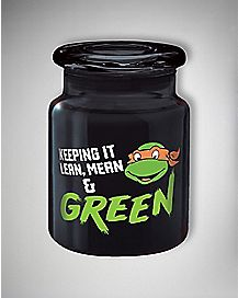 Lean Mean Green TMNT Storage Jar- 6 oz Black