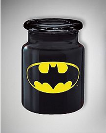 DC Comics Batman Storage Jar - 6 oz Black Glass