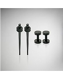 Cz Plug & Stretcher Taper 4 Pack - Black
