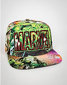 Marvel Hulk Sublimated Snapback Hat