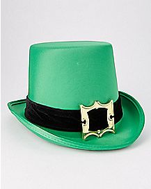 Top Hat with Buckle Green