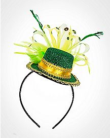 Feathered Shamrock St. Patrick's Day Headband
