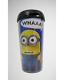 Whaaa Minion Despicable Me Travel Mug 16 oz