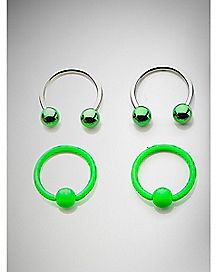 16 Gauge Green Horseshoe & Captive Set