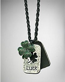 Shamrock Dog Tags Necklace