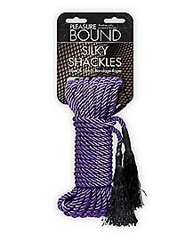 Silky Shackles Bondage Rope Purple- Pleasure Bound