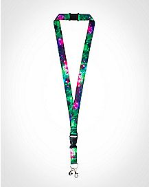 Galaxy with Charm Lanyard