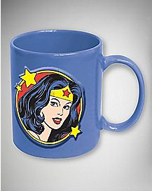 Embossed Face Wonder Woman  Mug 20 oz