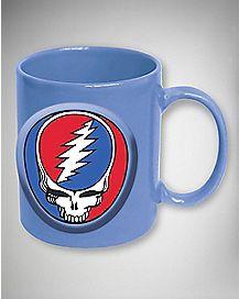 Embossed Grateful Dead Mug 20 oz