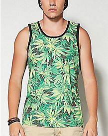 Sublimated Pot Mens Tank Top