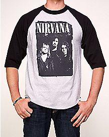 Nirvana Raglan T Shirt