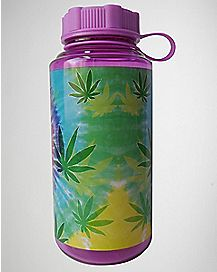 Leaf Tie Dye Water Bottle 32 oz
