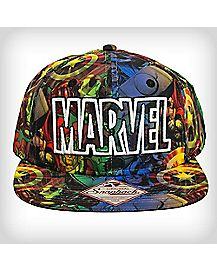 3D Embroidery Marvel Character Snapback Hat