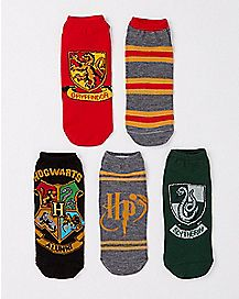 Harry Potter Crest 5 Pack Ankle Socks