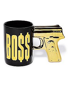 Foil Gold Gun Handle Boss Coffee Mug