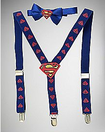Infant Superman Bowtie Suspender Set
