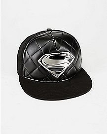 Metal Badge Superman Snapback Hat - DC Comics