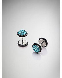 Teal Multi Gem Fake Plug Set