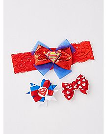 Supergirl Baby Headband Set
