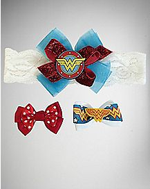 Wonder Woman Baby Headband Set
