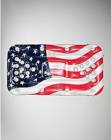 USA Flag Cooler Beer Pong Float - 6'