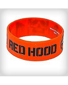 Red Hood Rubber Bracelet