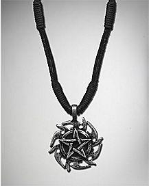 Pentagram Leather Necklace