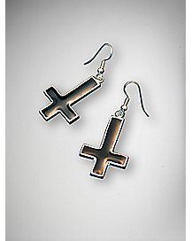 Reverse Cross Earrings