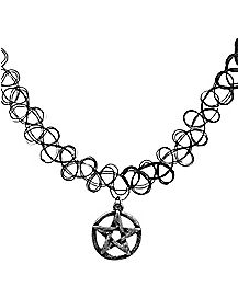 Tattoo Pentagram Choker Necklace