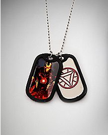 Iron Man Dog Tag Necklace