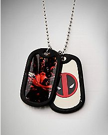 Deadpool Dog Tag Necklace - Marvel Comics