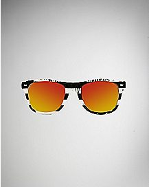 Americana Sunglasses- Black and White