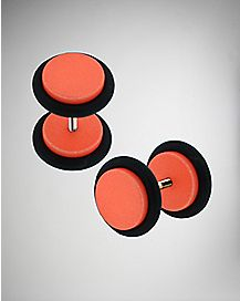 Orange Metallic Fake Plug Set