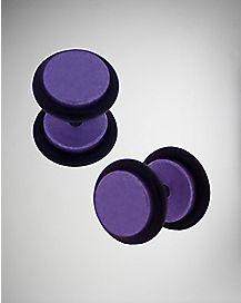 Purple Metallic Fake Plug Set