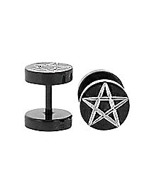 Pentagram Black Fake Plug Set
