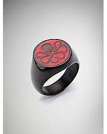 Hydra Black & Red Logo Ring