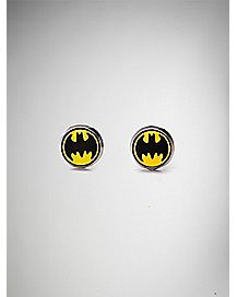 Batman Enamel Stud Earrings