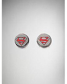 Superman Stud Earrings - DC Comics