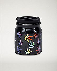 Tie Dye Pot Leaf Storage Jar - 3 oz