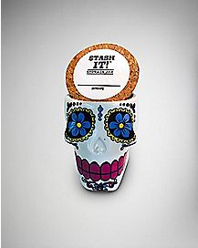 Sugar Skull Storage Jar