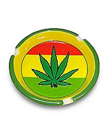 Rasta Pot Leaf Ashtray - Ceramic