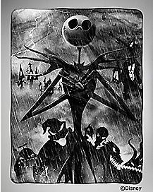 Nightmare Before Christmas Stormy Jack Fleece Blanket