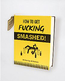 7 oz. How to Get Fucking Smashed Flask Book