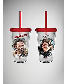 The Walking Dead Cup with Straw-16 oz 2 Pack