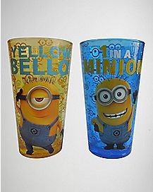 Despicable Me Pint Glasses Set 16 oz