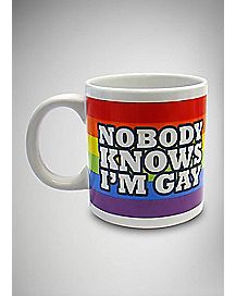 Nobody Knows I'm Gay Coffee Mug - 22 oz.