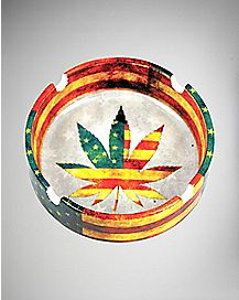 Pot Leaf Graphic Ashtray