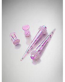 Pink Swirl Plug & Stretcher Taper Plug 4 Pack